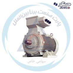الکتروموتورهای فشارضعیف 75 الی 450 کیلووات جمکو سری YU